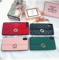 グッチ iphone xケース ショルダー バッグ型 ブランド グッチ アイフォン8/7/6s/6 plus Gucci コピー 携帯カバー チェーンバッグ 女性