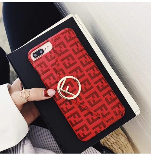 フェンディ iPhone XR/XS/XS MAXケース 財布付き フェンディ アイフォン 8/7/6s/6 plusケース ブランドコピー FENDI カバー スタンドつき
