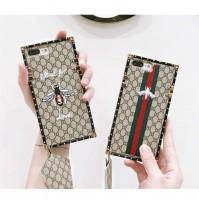 グッチ iphoneXケース 刺繍 グッチ アイフォン8/7/6s/6 plusケース トラップ付き GUCCI iPhone7カバー GGスプリーム