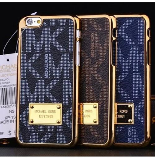 マイケルコース iphone8 plusレザーケース アルミ マイケルコース アイフォン7/6/6sプラス 保護背面カバー