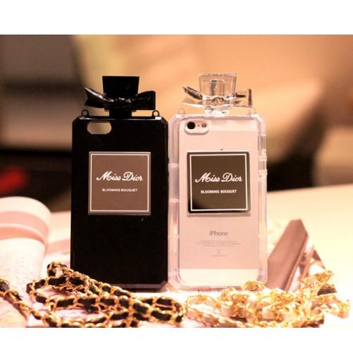 ディオール iPhonex/8/7/6s/6用 香水瓶型ケース ディオール ブランド アイフォン5/5s/5e/SE 香水カバー ストラップ付き 激安