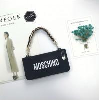 モスキーノ iPhone8/7/6s/6 plus ケース ショルダー チェーン付き モスキーノ アイフォン X カバー ストラップ