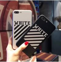 オフホワイト iPhoneX/8 plus 携帯ケース オフホワイト アイフォン7/6/6S plus OFF-WHITE 背面カバー 通勤 通学