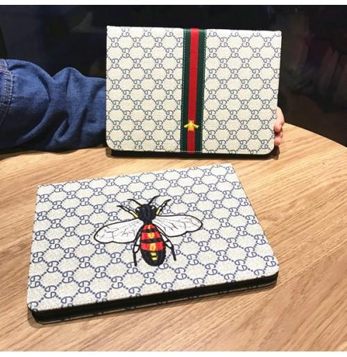 グッチ 新型ipad ケース スタンド Gucci アイパッド mini1/2/3/4ケース ブランドiPad Air2/Airカバー 刺繍