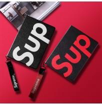 シュプリーム ブランドiPad 9.7inchケース スタンド機能 シュプリーム アイパッド エア2 カバー 軽量