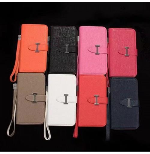 エルメス iphone X/8/7/6/6s plus ケース 手帳型 HERMES galaxy s9/s8 plus s7/s6 edge plusレザーケース ビジネス風 男女兼用