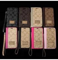 COACH iphone X/8/8 plus アイフォン7/6/6s plus手帳ケース コーチ galaxy s8/s7/s9plus note5 ギャラクシー s7/s6 edge plus カバー レザー
