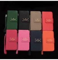 ケイトスペード galaxy s9/s8 plus note5レザーケース ケイトスペード iphone X/8/7/6s/5s/5c プラス 手帳カバー ギャラクシー s7/s6 edge plusカード収納 男女兼用