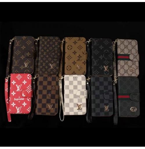 グッチ ブランドgalaxy s9plus手帳ケース ストラップつき Gucci iphone8カバー ビジネス風 男女兼用   偽物