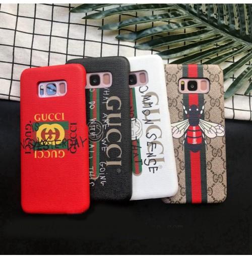 グッチ ギャラクシーS9/S8 プラスNOTE8 カバー グッチ iPhoneXS/xs max Xr ケース グッチ iphone6/6s/plus/7/7plusカバー 落書き