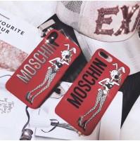 モスキーノ iphone X ケース MOSCHINO アイフォン 8 プラスケース iphone 7/6s/6 plus カバー 新作 オリーブオイル