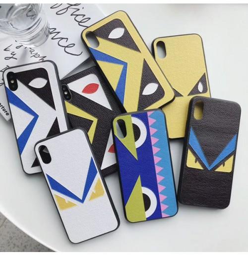 フェンディ iphoneXS/XSMAX/Xr背面ケース ブランド FENDI アイフォン8/7/6s/6 plus カバー パロディ