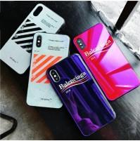 オフホワイト iphone X 背面ケース Off-White アイフォン8/8プラス 7/7plus 6s/6s plus 背面カバー バレンシアガ iphone6/6 plus ケース