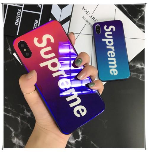 シュプリーム iphone X ケース supreme アイフォン 8 プラス ハードケース シュプリーム iphone7/6s/6   plus カバー グラデーション