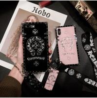 クロムハーツ iphoneX/XR/XS/XS MAX カバー ストラップ付き chromehearts ファーウェイ p20 プロ ケース クロムハーツ アイフォン8 ケース iphone7/6s/6 カバー