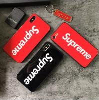 シュプリーム iphone X ケース 強化ガラス supreme Huawei P20 Pro カバー シュプリーム アイフォン  8/7/6s/6 plus 保護ケース パロディ OPPO R11s カバー