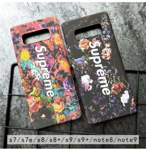 シュプリーム ギャラクシー ノート9/NOTE 8 ハードケース SUPREME Galaxy s9/s9plus s8/S8PLUS Galaxy s7edge 花柄 supreme ファーウェイ Huawei P20 Pro/LITE カバー レディース向け カラフル