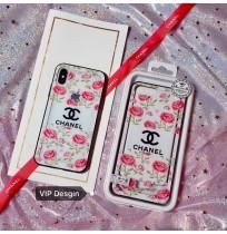 シャネル iphone8 ハードケース クリア シュプリーム supreme アイフォンx カバー 背面ガラス 花柄 レディース デート 通勤