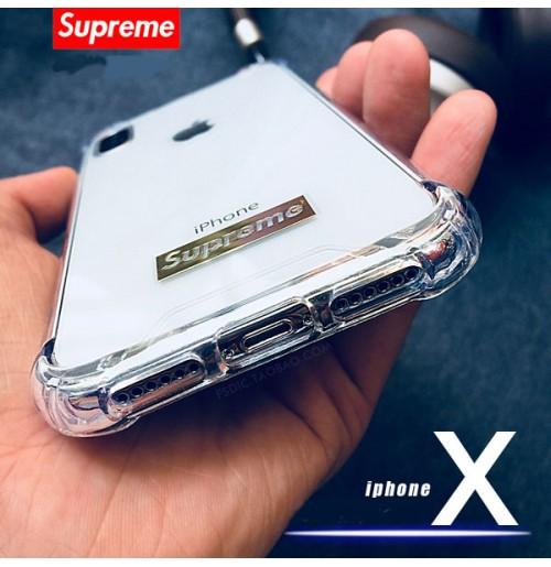シュプリーム iphone8/8PLUS ケース 透明 supreme アイフォンX/XR/XS/XS MAX クリア カバー シュプリーム Huawei P20/p20 Pro カバーsupreme iphone7/6S/6 プラス スマホケース