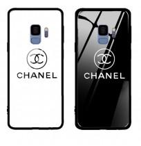 シャネル風 galaxy s9plus 携帯カバー 強化ガラス CHANEL ギャラクシー S9 ケース galaxy s8/s8+ ケース   レディース向け