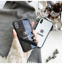 シャネル風 アイフォンX/XS/XS MAX/XR  ガラスケース  iphone8/7/6S/6 プラスカバー CHANEL galaxy s9/S9+ S8/S8+ケース huawei p20 pro/lite背面カバー