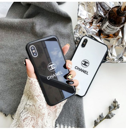a379b371abc8 シャネル galaxy S9/s9+ ケース 背面ガラス CHANEL風 ブランド iphoneXS ...