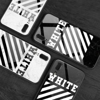 オフホワイト iphone8/8plus ケース off white アイフォンX カバー   iphone7/6s/6 プラス カバー  大理石 オフホワイト Galaxy s9/s9plus オフホワイト Huawei P20/P20 Pro/Huawei P20 LITE HWV32 ケース 男女兼用