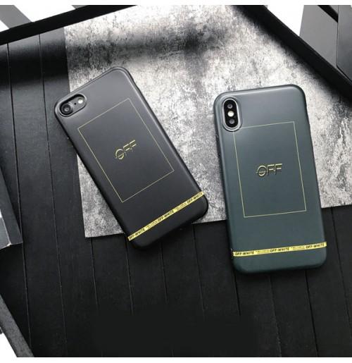 OFF-WHITE iphone8/8plus ケース オフホワイト アイフォン X カバー iphone7/6s/6 ケース 通勤 通学 男女兼用
