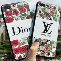 ディオール iphone X ケース DIOR iphone8/7/6s/6 plus カバー 花 LV Huawei P20/p20 pro カバー ヴィトン galaxy s7/s6 s6edge プラス シリコンケース レディース