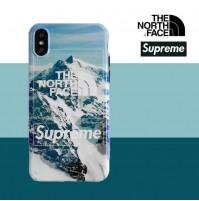 THE NORTH FACE シュプリーム iphoneXS/XS MAX/XRカバー ザノースフェイス ブランド パロディー風 アイフォン 8/8plus ケース 7/6s/6 ケース