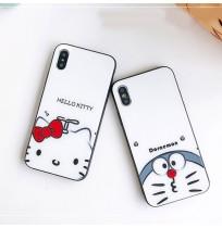ドラえもん Doraemon iphone XS/XS MAX ガラスカバー ハローキティ iphone XR/X アイフォン8/8プラスケース Hello Kitty iphone7/6s/6 plus背面カバー