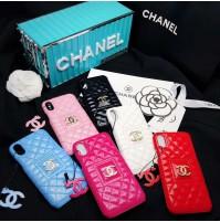 シャネル iPhone Xs Max/Xs/XR レザーケース 背面型 女性 CHANEL アイフォンX/8/8プラスカバー ブランド iphone7/6s/6 plusケース