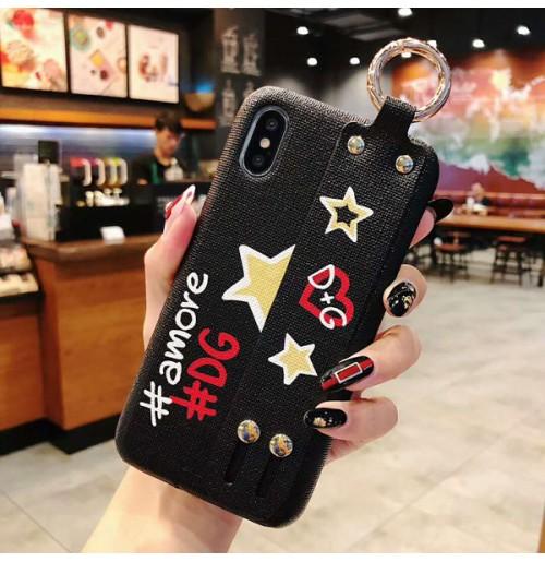 ドルガバ iphoneXR/Xケース ブランド dolce&gabbana iphoneXS/XS MAXケース ベルト付 iphone8/7/6S/6カバー 美品