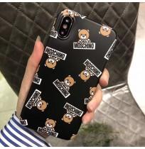 モスキーノ iphoneXS MAXケース Moschinoブランド アイフォンXS/XR/Xカバー iphone8/7/6S/6 PLUSケース 偽物 くま
