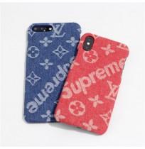 supreme LV iphoneXS/XS MAXケース アイフォンX/XR 8/7/6S/6plus用 ヴィトン シュプリーム GalaxyS9/S9+ケース S8/S8+ ギャラクシー NOTE8/9 ブランド Huawei P20 PRO/LITE HWV32ケース