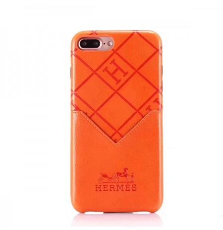 HERMES iPhone xs/xs max/xr カバー レザー ブランド iphone8/8 plusケース エルメス アイフォン7/6s/6 プラスカバー 収納ポケット