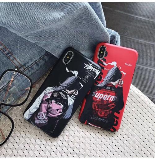 シュプリーム ストリート系 iphoneX/XS/XS MAX/XRケース ブランド iphone8/8プラスカバー アイフォン7/6s/6背面ケース 個性的