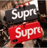 高品質 supreme風 iphone XS MAX シリコンケース 液態シリカゲル素材 シュプリーム iphone XS/XR/X アイフォン8/7/6s/6カバー Qi充電対応 衝撃吸収 指紋防止 huaweip20pro