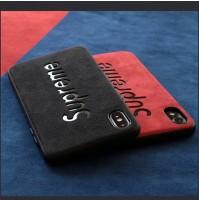 高品質 シュプリーム iphoneカバー XS MAX/XS/XR アルカンターラ 炭素繊維 アイフォン 8/7/6s/6plus背面ケース 男女兼用