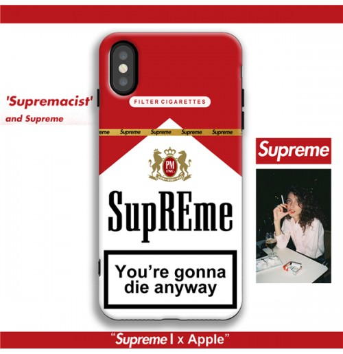 supreme Marlboro iphoneXSMAX/XSケース マルボロ柄 xr シュプリーム アイフォン8/8+ iphone7/6S/6plus  背面ケース 赤 マル タバコ柄 芸能人愛用