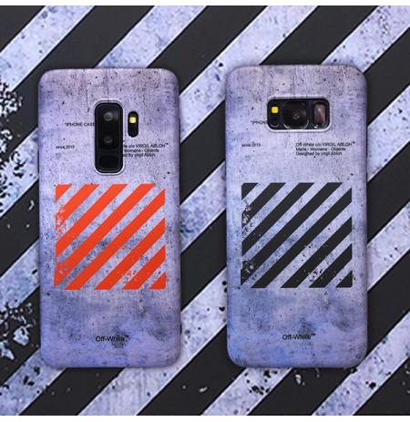 オフホワイト iphone XS/XR/XS MAXカバー 8/7/6s/6PLUSソフトケース OFF-WHITE galaxy note9/8背面ケース s9/s9プラス s8/s8+ s7edge ゴムシリコン 個性的