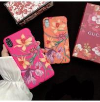 グッチ フローラ プリントiPhoneXS/XS MAX/XRレザーケース GUCCI アイフォンx背面カバー 花柄 レディース