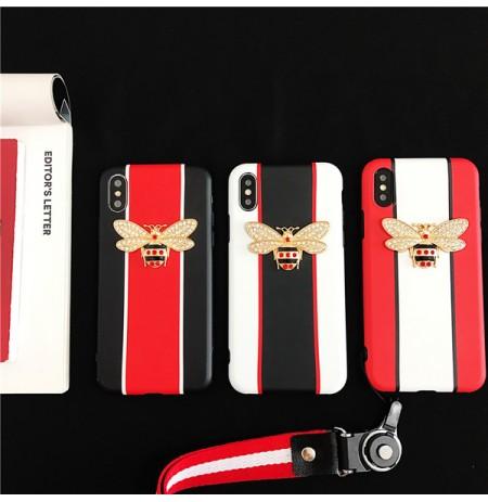 新作グッチ風 iphoneXS MAX/XS/XRケース GUCCI パロディ風 ビー iphone8/8plus アイフォン7/6s/6プラスケース 蜂 女性