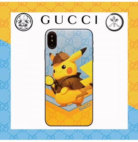 名探偵ピカチュウ グッチ アイフォンXSMAX/XS/XRカバー GUCCI風 ピカチュウ iphone8/7/6s/6plusスマホケース