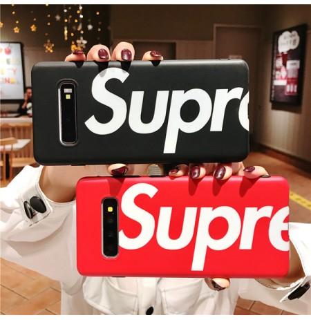 シュプリーム風 Galaxy S10/S10+/S10eケース NOTE8/9 supremeギャラクシーS9/S9+ S8/S8+ S7/S7EDGE ハードカバー 落下防止