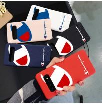 チャンピオン Galaxy S10/S10+保護ケース Champion iPhoneXS/XSMAX/XRカバー アイフォン8/7プラス用ケース 液態シリカゲル素材 ギャラクシーs9/s9+ note8/9カバー 欧米風
