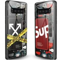 supreme ブランド ギャラクシー S10/S10+ケース オフホワイト galaxy s10eカバー ファッション
