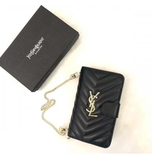 サンローランiphoneXR/XS/XSMAXケース 財布型 シャネル アイフォン8/7/6s/6プラスカバー ショル ダーバッグ