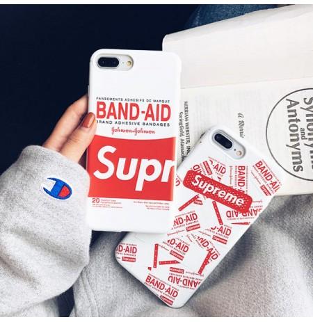 Supreme BAND-AID風 iPhoneXS/XS MAX/XRカバー シュプリームバンドエイド 柄 アイフォン8/7/6s/6プラス保護ケース