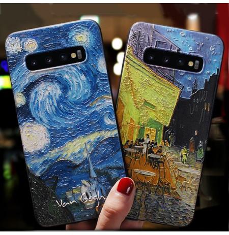 ゴッホ作 夜のカフェテラス 名画アイフォンXS/XSMAX/XRケース 星月夜 galaxyS10/S10e/s10+スマホケース iPhone8/7/6S/6PLUS世界名作ケース HuaweiP20pro/lite対応